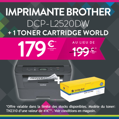 imprimante brother DCPL2520DW - Cartridge World Bergerac