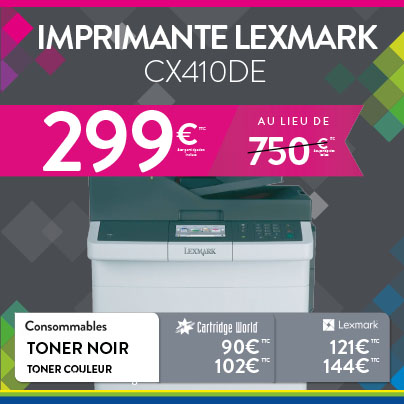 Offre Lexmark - Cartridge World Bergerac